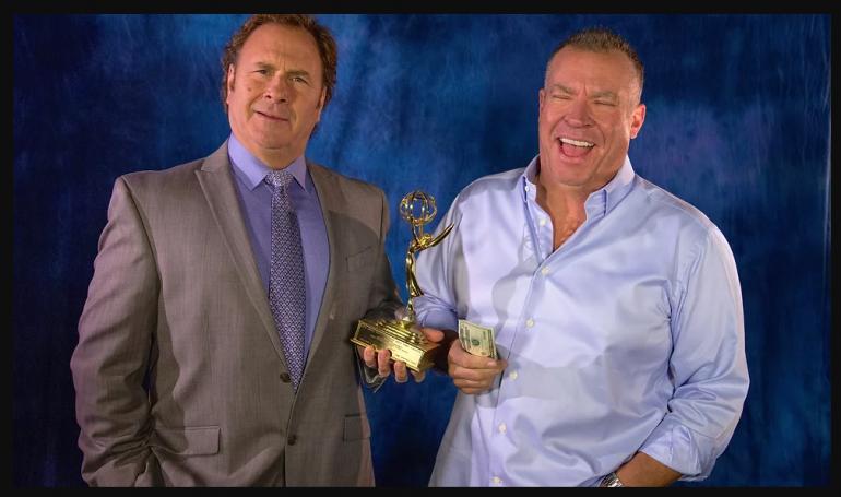 Hosts of The Big Biz Show, Russ T Nailz and Bob Sully Sullivan